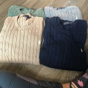 Polo sweaters -Individually priced